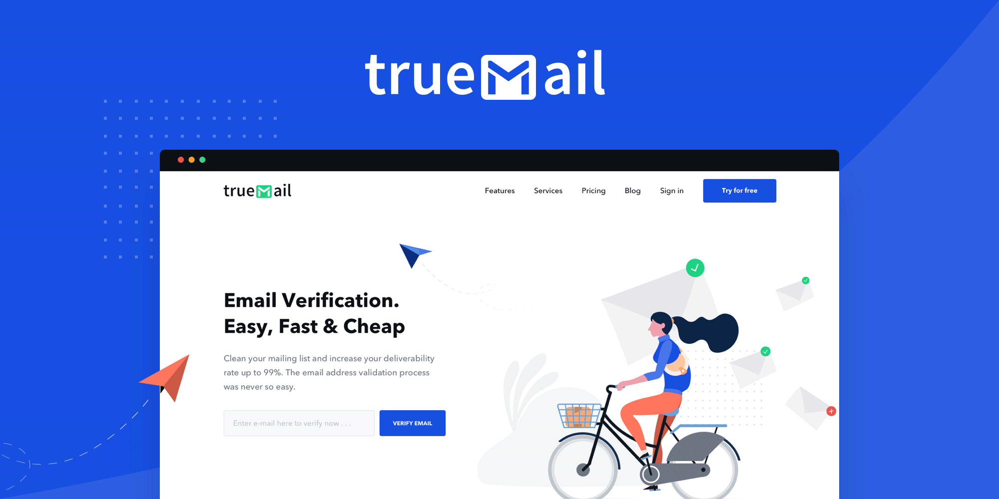 Email Verifier – Check and Verify any Email Address in Bulk – TrueMail  Service